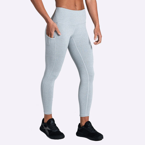 Women's Apparel - The Brave - Women's Elevate 7/8th Tights - Light Grey Marle