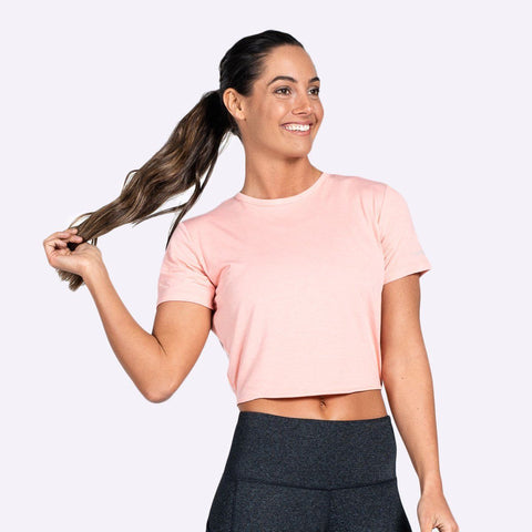Women's Apparel - The Brave - Women's Entangle S/S Crop Top - Coral Glow