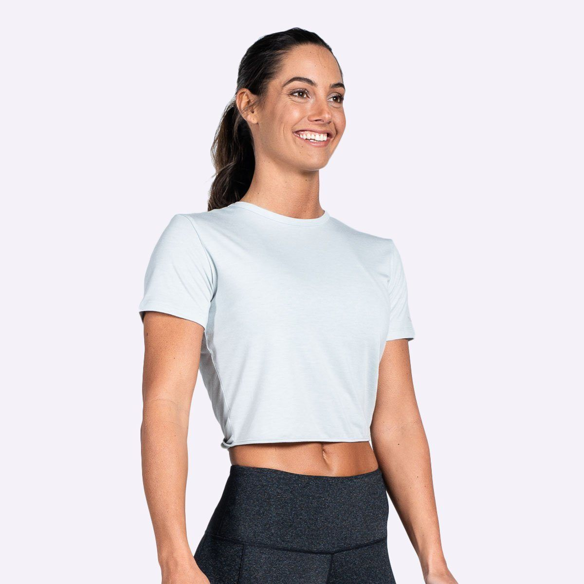 The Brave - Women's Entangle S/S Crop Top - Sage