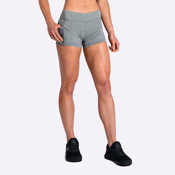 Women's Apparel - The Brave - Women's High Tide Booty Shorts - Charcoal Marle
