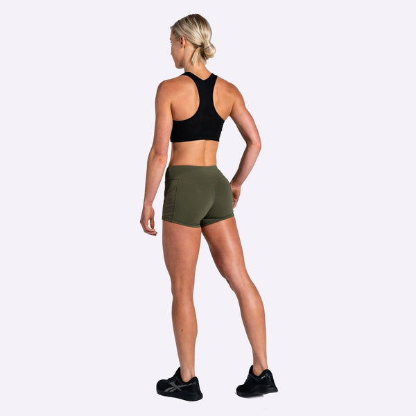 Women's Apparel - The Brave - Women's High Tide Booty Shorts - Dark Olive
