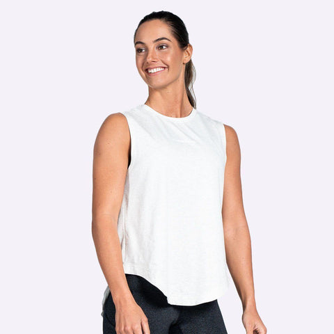 Women's Apparel - The Brave - Women's Windrifter Tank - White Marle