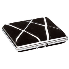 Cigarette Case Black With White Graphic Stripes