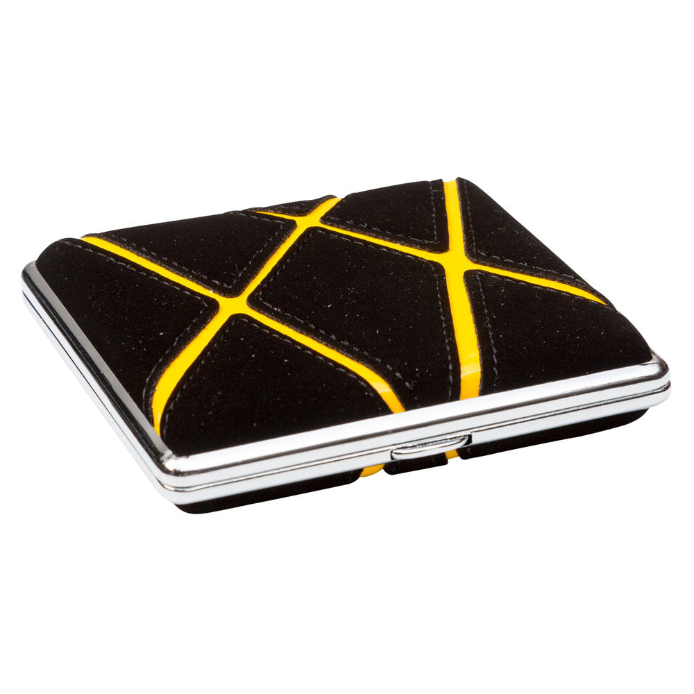 Cigarette Case Black With Orange Graphic Stripes