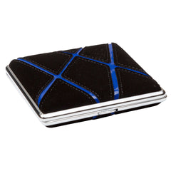 Cigarette Case Black With Blue Graphic Stripes