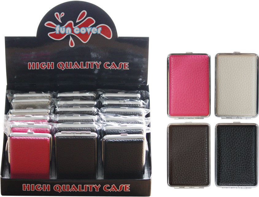 Leather Double Sided Cig Case - Holds 12