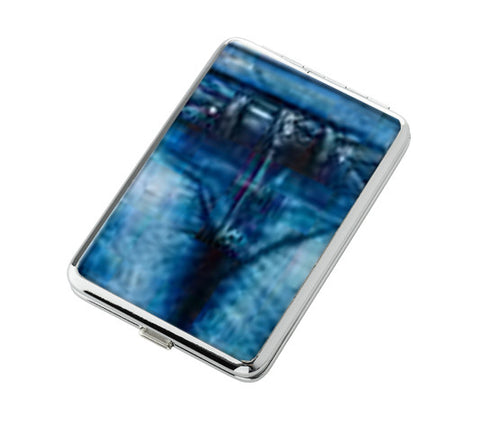 Cigarette Case with Jeans Design