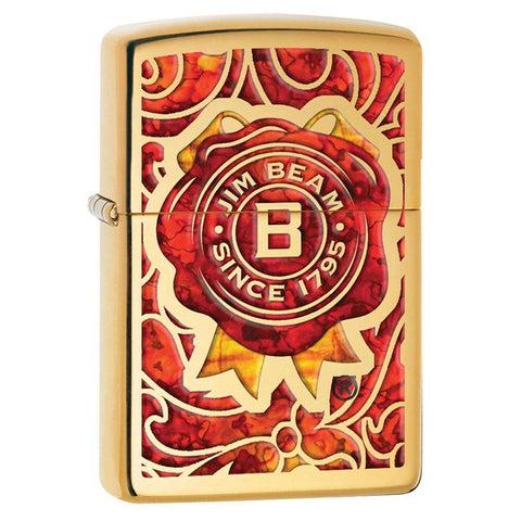 Zippo - Jim Beam Red And Gold Fusion