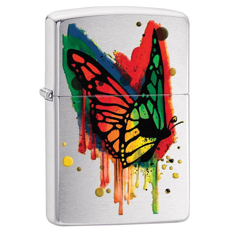 Zippo - Brushed Chrome Butterfly
