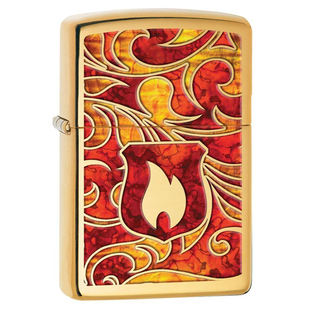 Zippo - Flame Fusion High Polished Brass