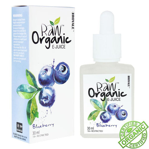 Raw Organic E-Juice 30ml Blueberry