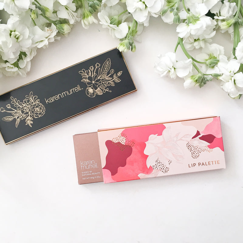 KM lip palette packaging
