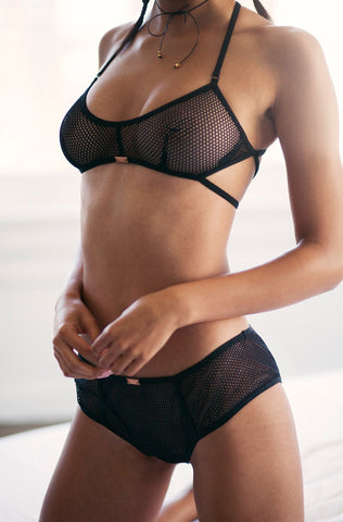 Nothing But Net Panty (Black)
