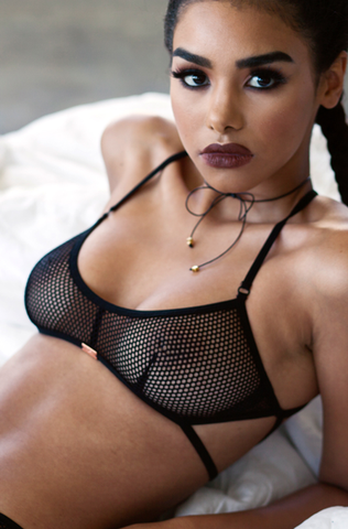 Nothing But Net Bra (Black)