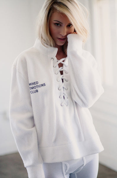 Mixed Emotions Pullover (Bleached White)