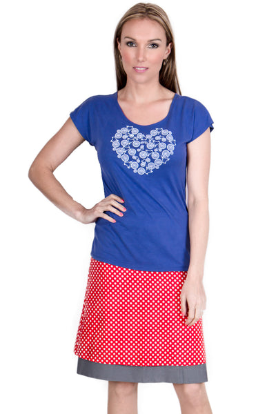 I Heart Bikes Tee in Blue - Tava  - 2