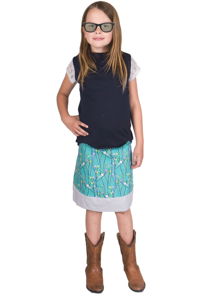 Treebird Girls Reversible Skirt - Tava  - 1