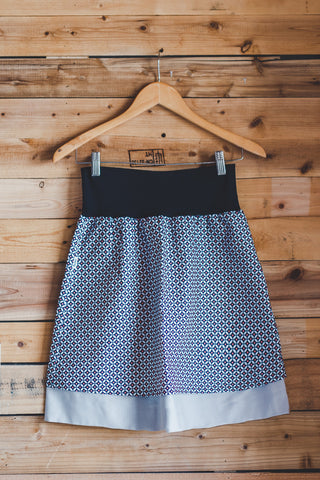 Sparrow Geo Short Reversible Skirt
