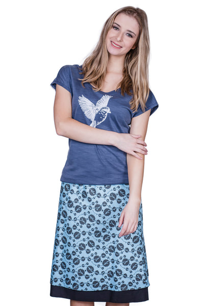 Vines Long Reversible Skirt - Tava  - 1