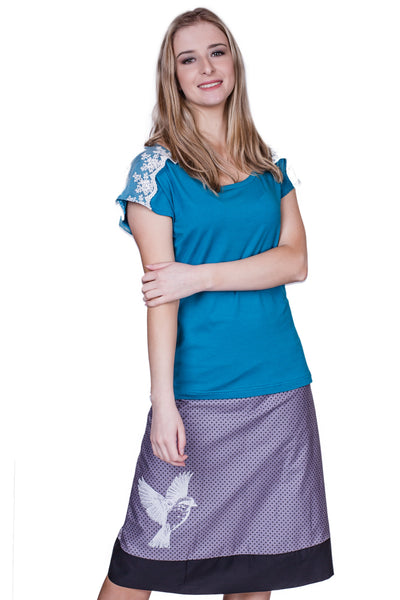 Vines Long Reversible Skirt - Tava  - 2