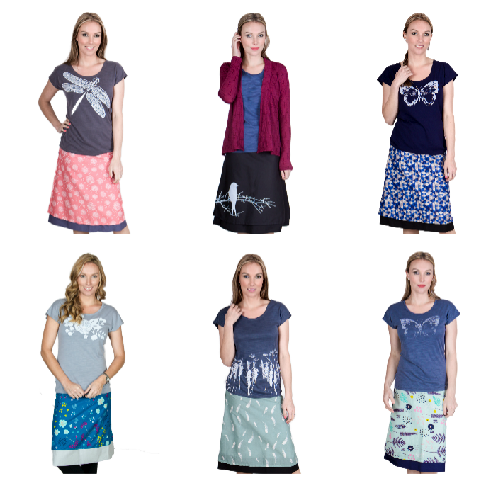 Lucky Dip - 2 x Long Reversible Skirts