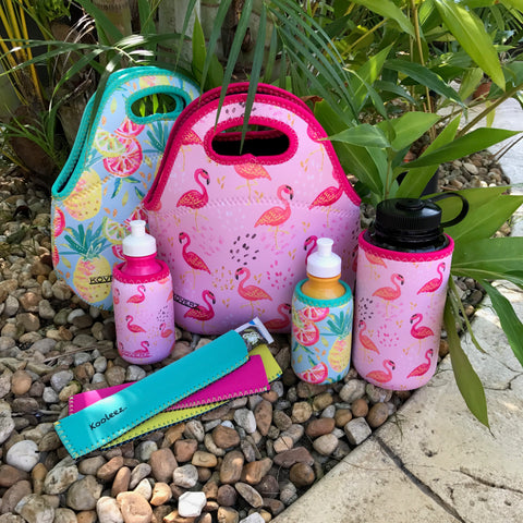 Koverz Pineapples & Pink Ladies Lunch Totes & Bottle Insulators