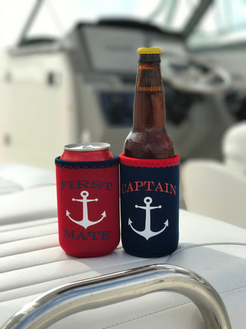 Captain & First Mate Can/Bottle Koozies