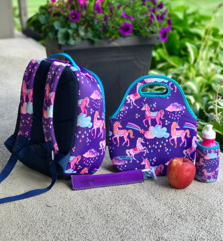 Kovez Unicorns Backpack and Lunch Tote