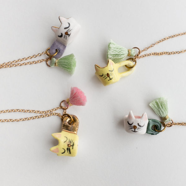 Kitty Fairy Mug Necklace