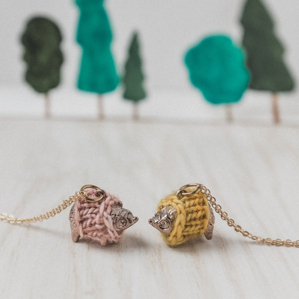 Cozy Hedgehog Necklace