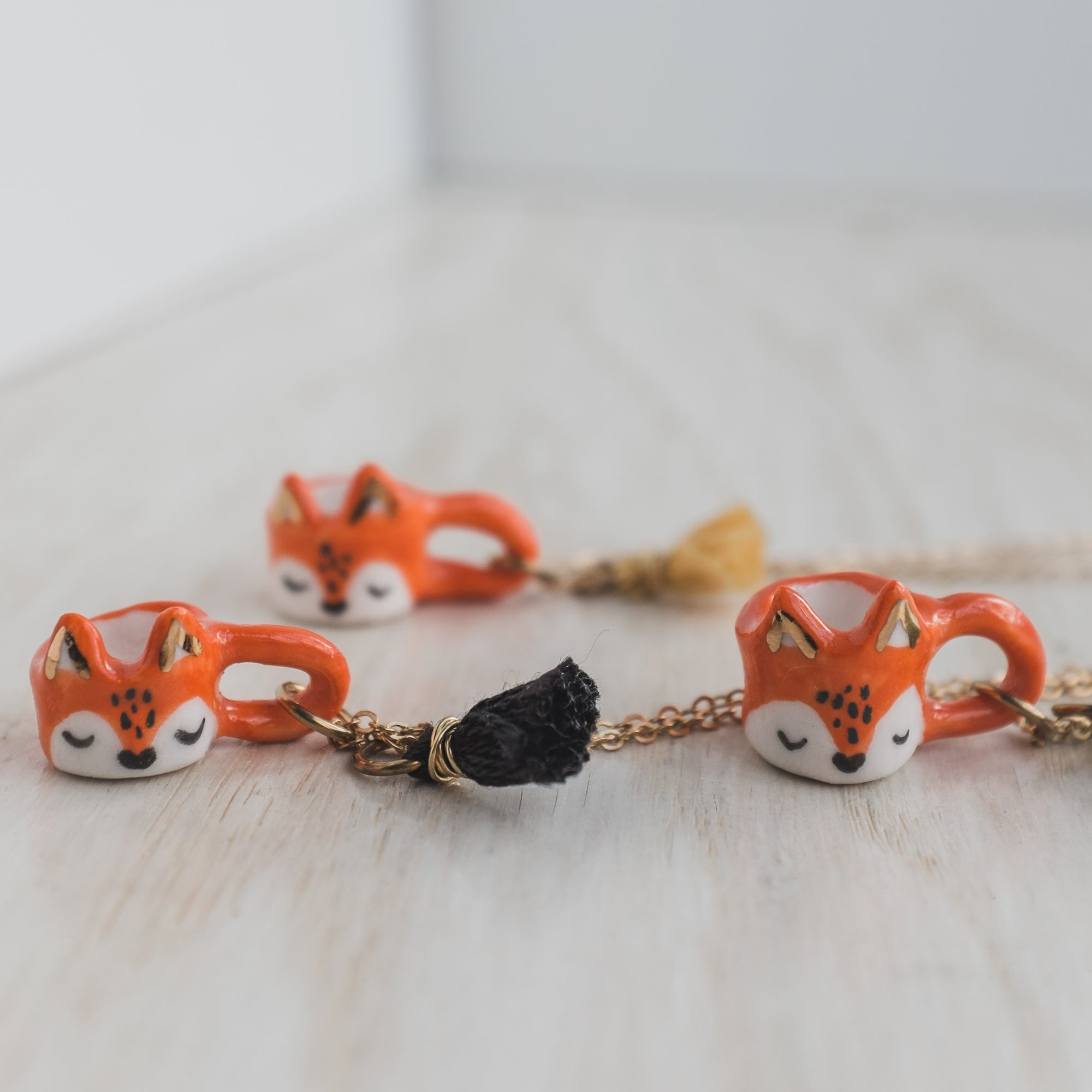 Fox Fairy Mug Necklace