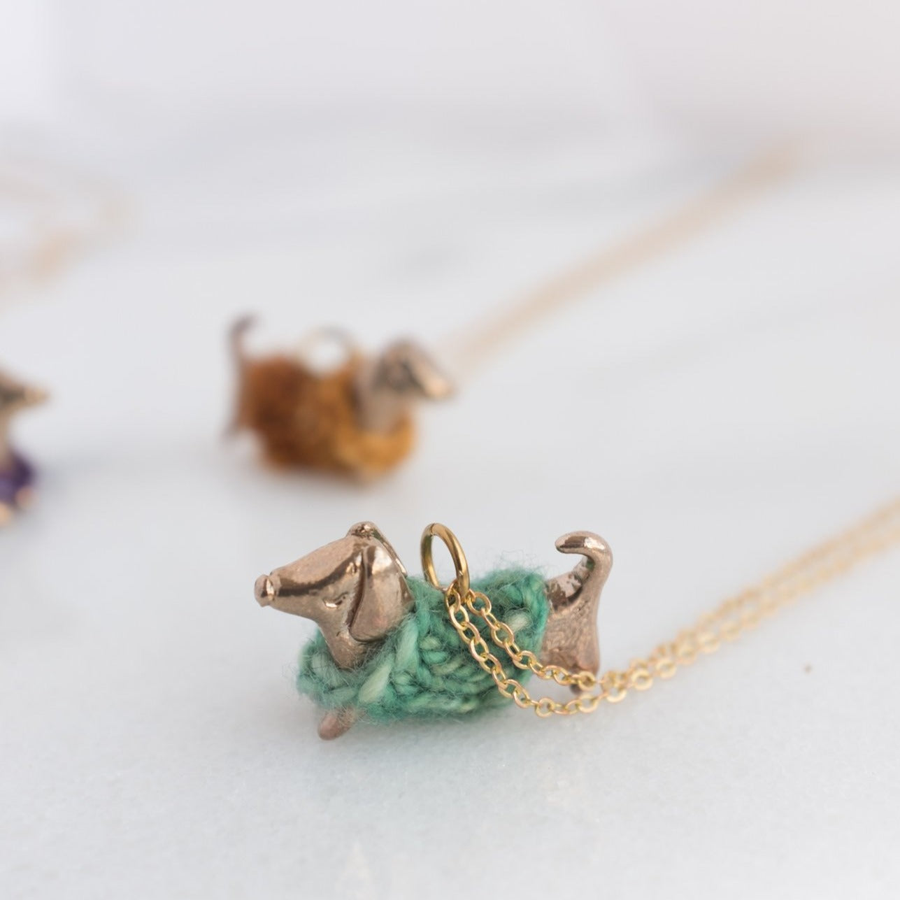 Cozy Wiener Dog Necklace