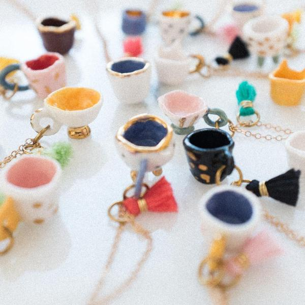 Fairy Mug /// Teacup Necklace