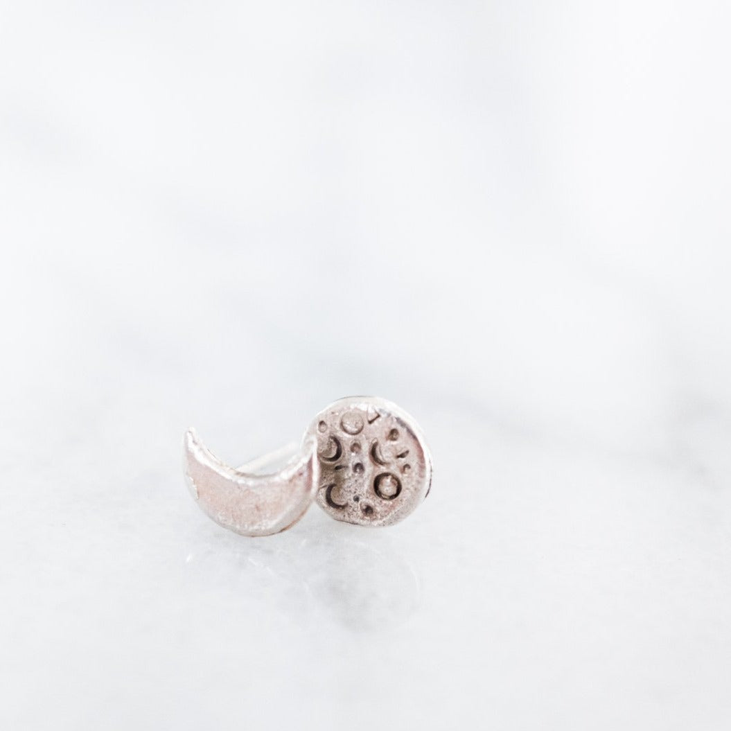 Mis-matched Moon Studs