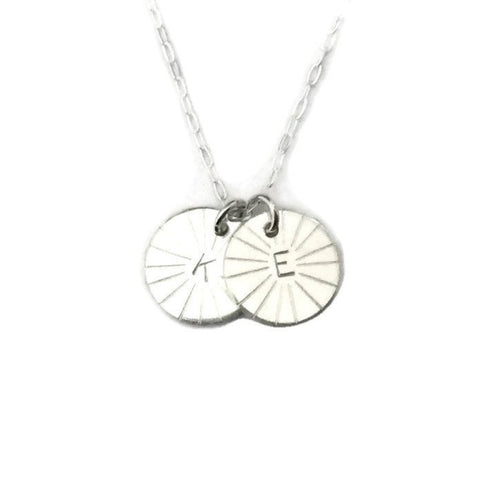 Silver Classics - Initial Necklace - Double