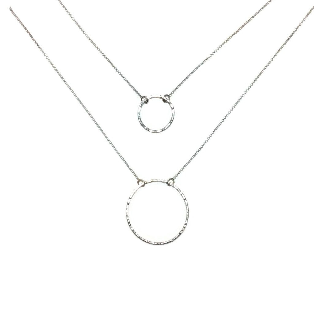 Silver Classics - Circle Necklace - 2 sizes