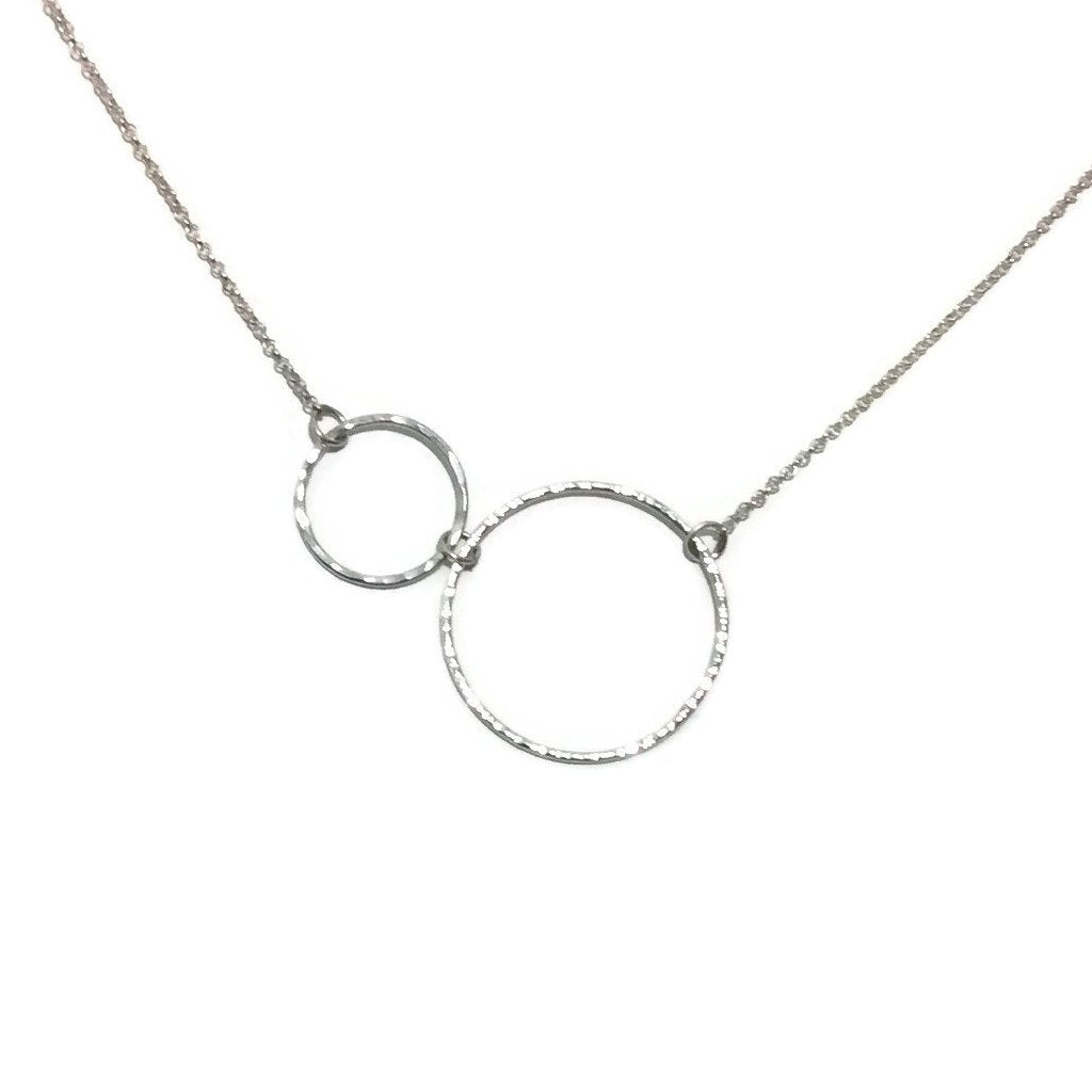 Silver Classics - Double Circle Necklace