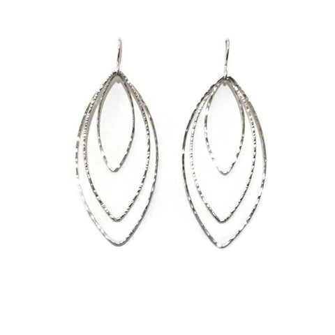 Silver Classics - Triple Marquis Earrings