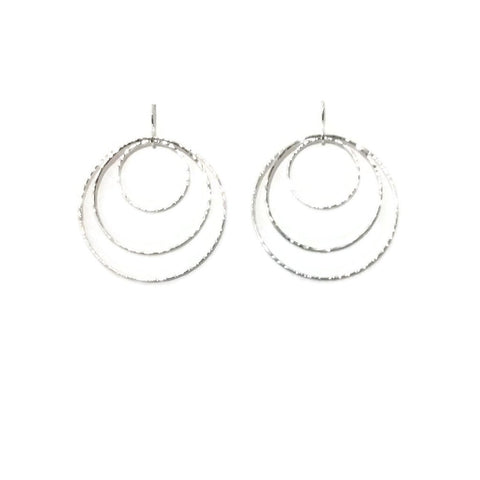 Silver Classics - Triple Circle Earrings