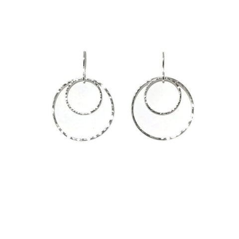 Silver Classics - Double Circle Earrings - 3 sizes
