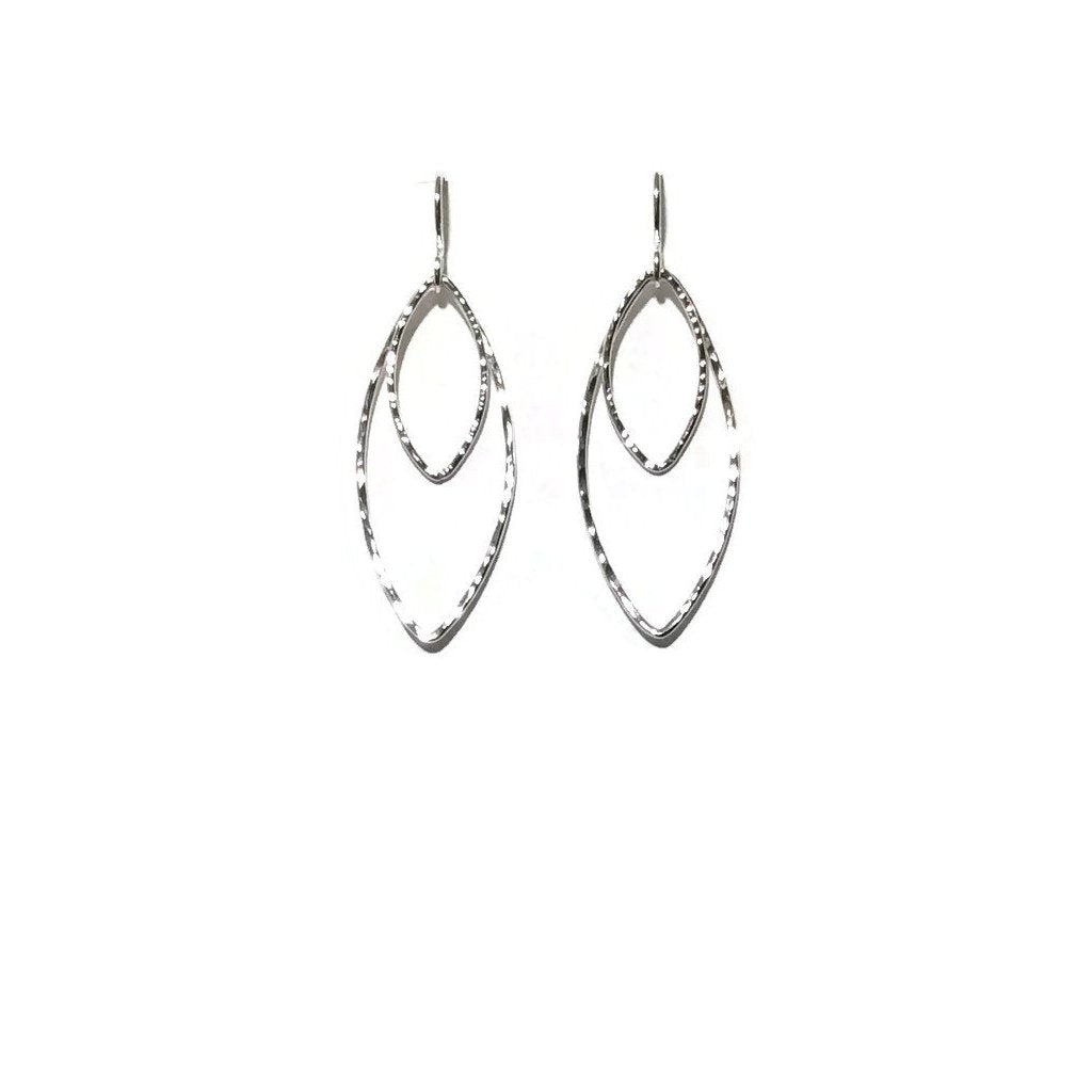 Silver Classics - Double Marquis Earrings - 3 sizes