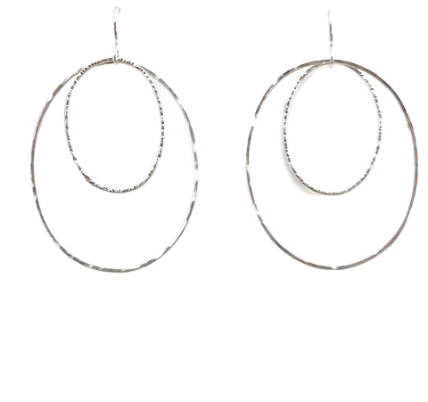 Double Oval Earrings, Large