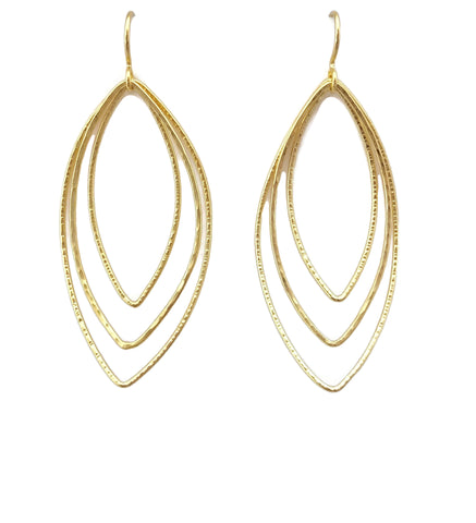 Classics - Triple Marquis Flip Earrings