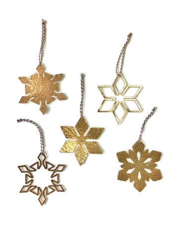 Brass Snowflake Ornament