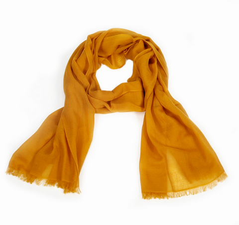 Sunrise Orange Cashmere Scarf