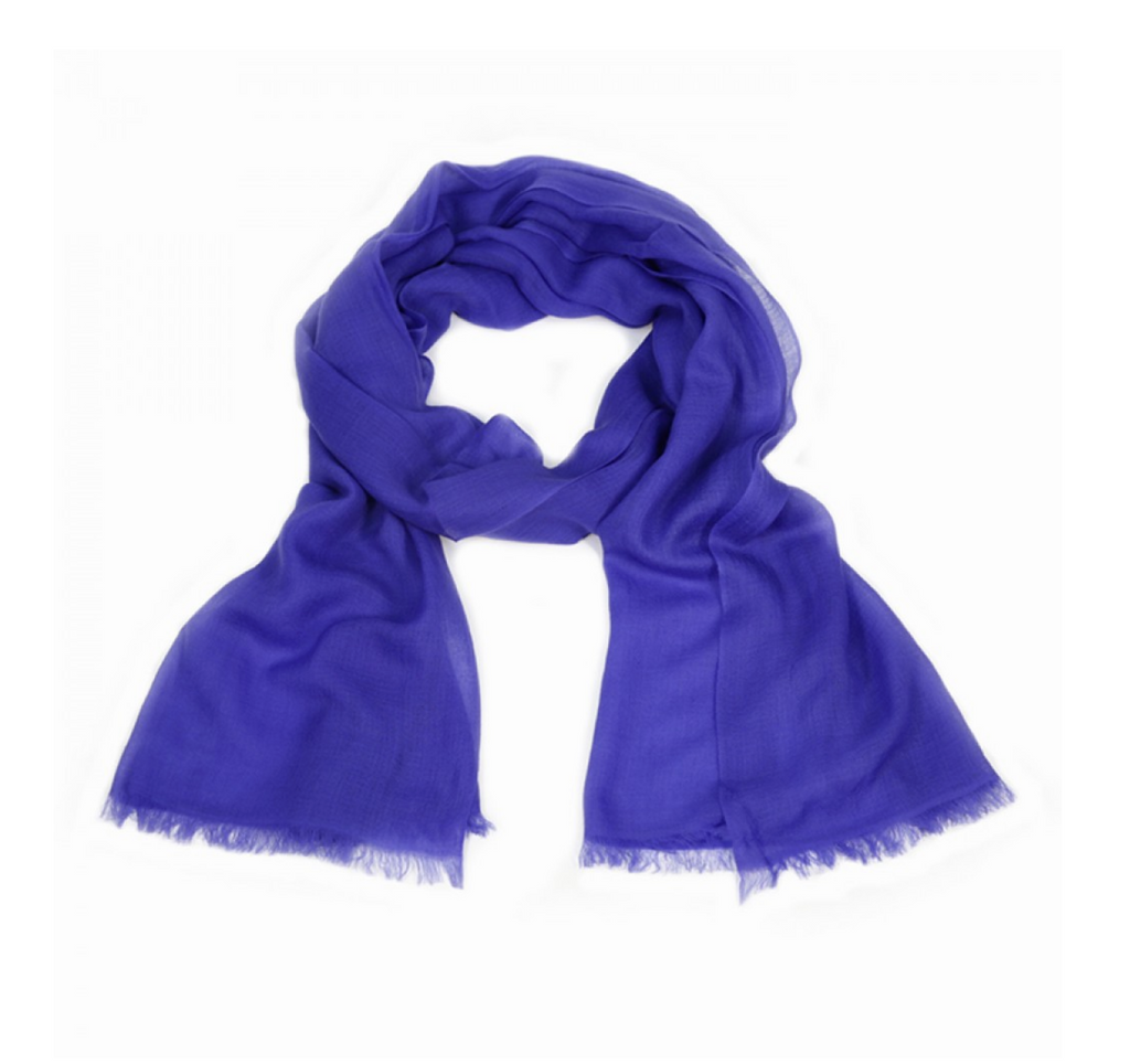 Royal Blue Cashmere Scarf