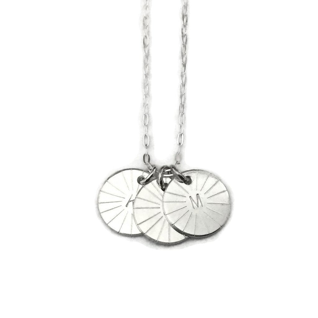 Silver Classics - Initial Necklace - Triple