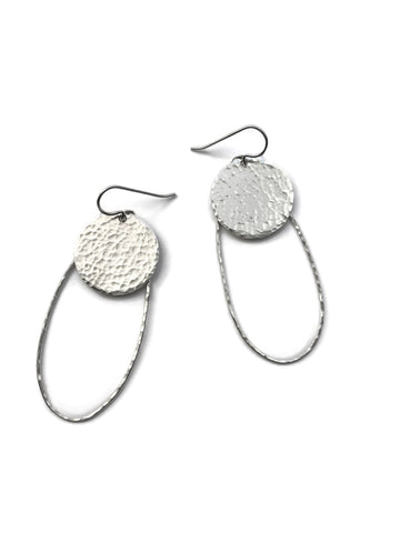 Silver Classics - Ellipse Earrings