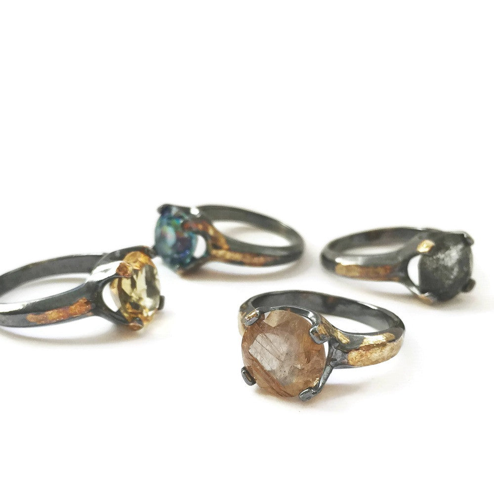Round Cocktail Ring - Choose Your Stone