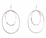 Double Oval Earrings, Medium